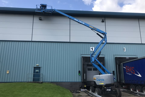 Gutter cleaning of industrial buildings in Glasgow, Edinburgh, Sterling and Dumfries.