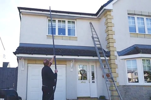 Gutter cleaning in East Kilbride, Airdrie, Edinburgh and Hamilton areas