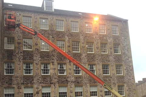 Exterior high level window cleaning service in Glasgow and Edinburgh